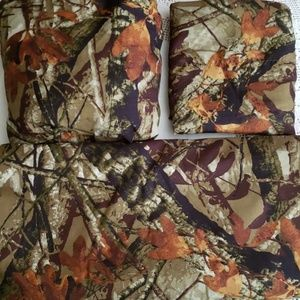 Mainstay Twin Camouflage sheets and pillowcase